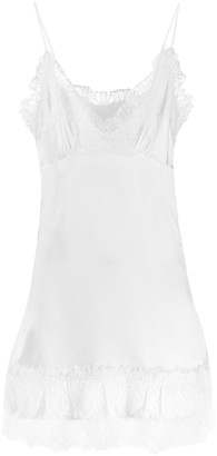 Ermanno Scervino Lace Trim Slip Dress