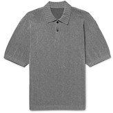 Issey Miyake Men - Slim-fit Knitted Polo Shirt