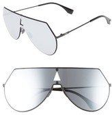 Fendi Women's 99Mm Eyeline Aviator Sunglasses - Matte Black