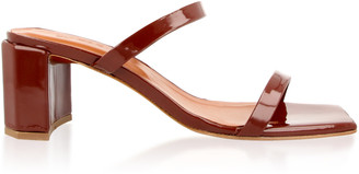 BY FAR Tanya Patent Leather Sandals