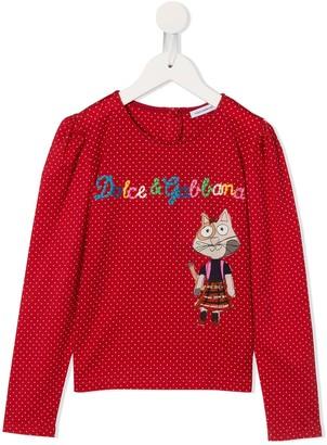 Dolce & Gabbana polka dot long-sleeved T-shirt