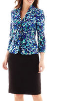 Le Suit Print Twill Jacket and Skirt Set