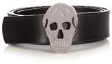 Alexander Mcqueen Skull-buckle Leather Belt