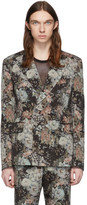 Dries Van Noten Multicolor Wool Floral Double-Breasted Blazer