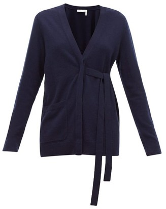 Chloé V-neck Cashmere Cardigan - Womens - Navy