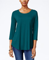 JM Collection Scoop-Neck Top, Only at Macy's
