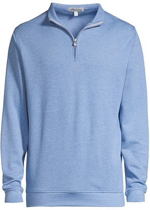 Peter Millar Comfort Interlock Quarter-Zip Sweater