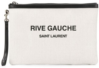 Saint Laurent Rive Gauche print clutch