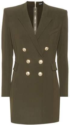 Balmain Crepe blazer minidress