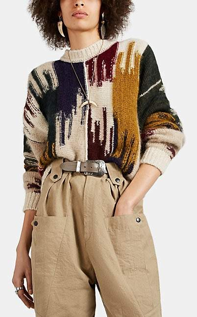 Isabel Marant Women's Delly Abstract-Pattern Mohair-Blend Sweater