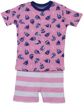 New Jammies Pink Sail Organic Shorts Pajama Set - Infant & Kids