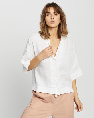 Nude Lucy Nude Linen Lounge Shirt