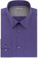 Calvin Klein Men's X Extra-Slim Fit Stretch Purple Stripe Dress Shirt
