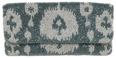 The Well Appointed House Beaded Ikat Envelope Clutch in Grey & Ivy