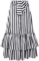 Caroline Constas striped tiered skirt