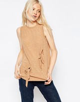 Asos T-Shirt With Double Knot Detail
