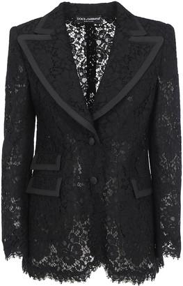 Dolce & Gabbana Lace Embroidered Blazer