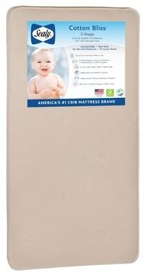 Sealy Baby Cotton Bliss 2-Stage Waterproof Standard Toddler & Crib Mattress