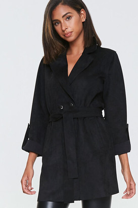 Forever 21 Faux Suede Roll-Tab Blazer