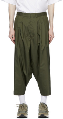 N.Hoolywood Khaki Technical Cropped Trousers