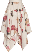 Awake Flora-print handkerchief-hem skirt