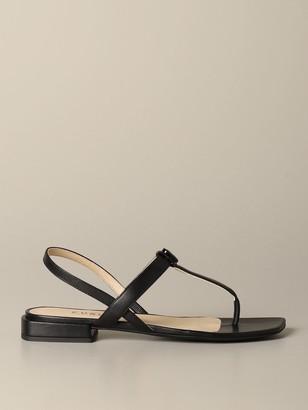 Furla Yc81 Flat Sandal In Nappa Leather