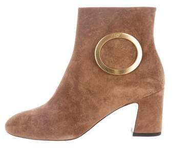 Roger Vivier Buckle Suede Ankle Boots w/ Tags