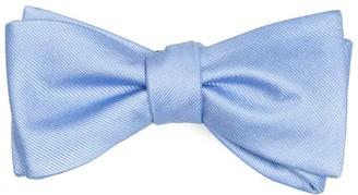 Tie Bar Grosgrain Solid Light Blue Bow Tie