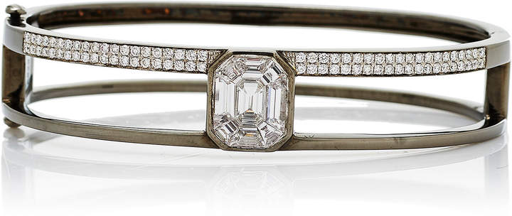 As 29 AS29 Medium 16.5cm Black Gold and Illusion Diamond Bangle