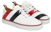 Thom Browne Men's Asymmetrical Stripe Sneaker