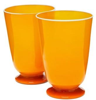 La DoubleJ Set Of Two Murano Glasses - Orange