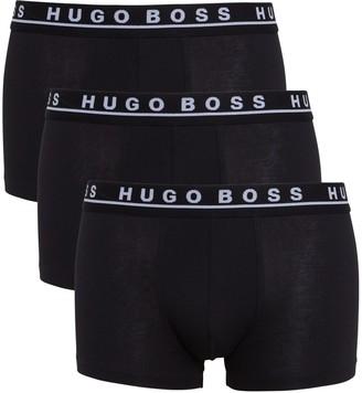 HUGO BOSS BOSS Stretch Cotton Trunks, Pack of 3