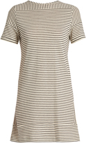 A.P.C. Mauricia striped cotton-blend jersey dress