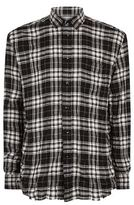 Saint Laurent Distressed Checked Shirt