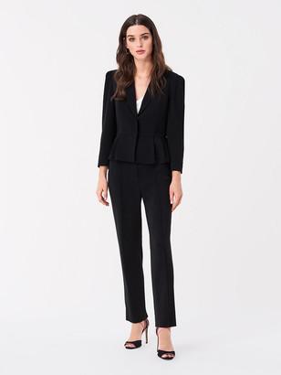 Diane von Furstenberg Winona Stretch Crepe Peplum Jacket