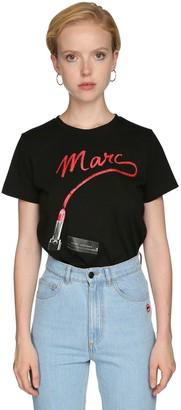 Marc Jacobs Lipstick Logo Jersey T-shirt