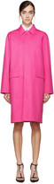 DSQUARED2 Fuchsia Cotton Coat