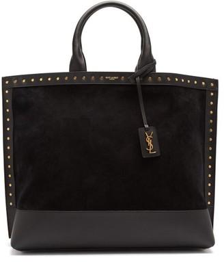 Saint Laurent Studded Leather Tote Bag - Black
