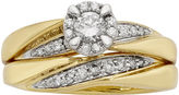 JCPenney FINE JEWELRY LIMITED QUANTITIES 1/2 CT. T.W. Diamond 10K Yellow Gold Bridal Ring Set