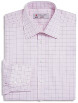 Turnbull & Asser Puppytooth with Grid Classic Fit Dress Shirt