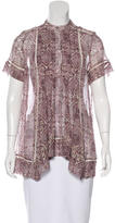 Zimmermann Silk Abstract Print Top