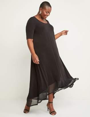 Lane Bryant High-Low Chiffon-Hem Maxi Dress