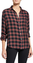 Frank And Eileen Eileen Button-Down Plaid Modal Shirt