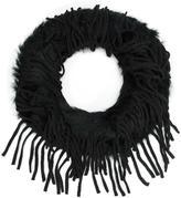 Dolce Cabo - fringed scarf - women - Rabbit Fur/Acrylic - One Size