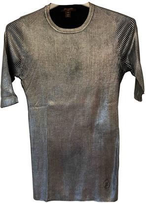 Louis Vuitton Silver Silk Knitwear