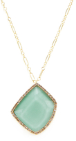 Meira T 14K Yellow Gold, Verisite & 0.44 Total Ct. Diamond Pendant Necklace