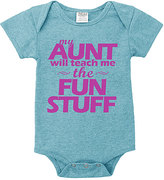 Urban Smalls Heather Aqua 'My Aunt Will Teach Me' Bodysuit - Infant