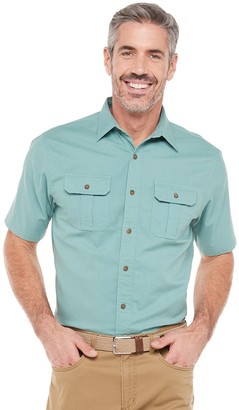 Croft & Barrow Men's Solid Crosshatch Button-Down Shirt