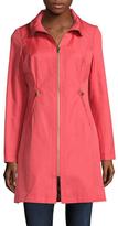 Via Spiga Cotton Tassel Body Stitching Coat