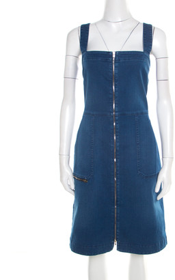 Stella McCartney Indigo Denim Zip Front Sleeveless Dress M